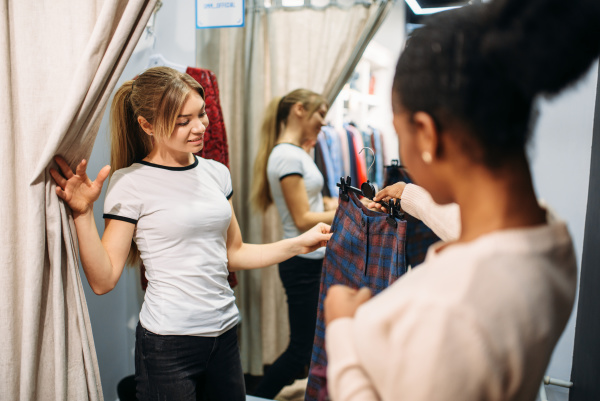 two women in the dressing room