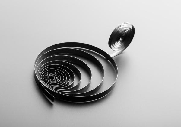 two, metallic, spirals - 28080539