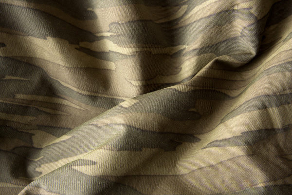close up of camouflage waves