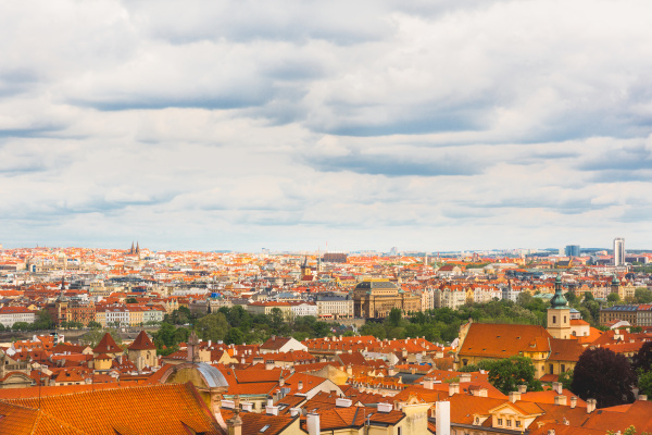 ancient european town cityscape house roofs