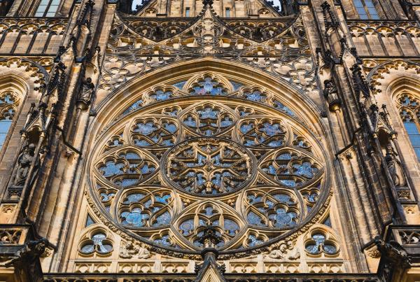 building facade with big window european