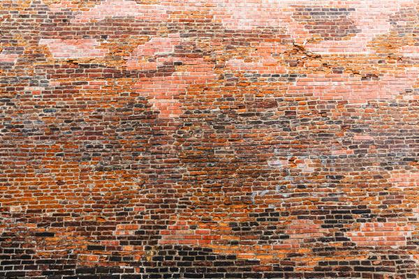 ancient building brick wall old european