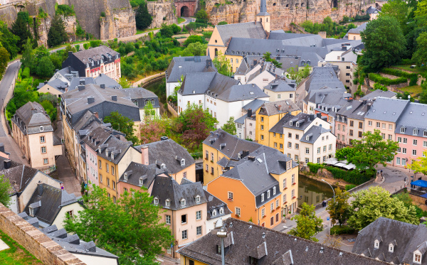 ancient provincial european town view on