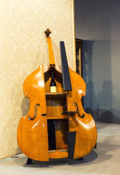 big cello like cupboard for wine