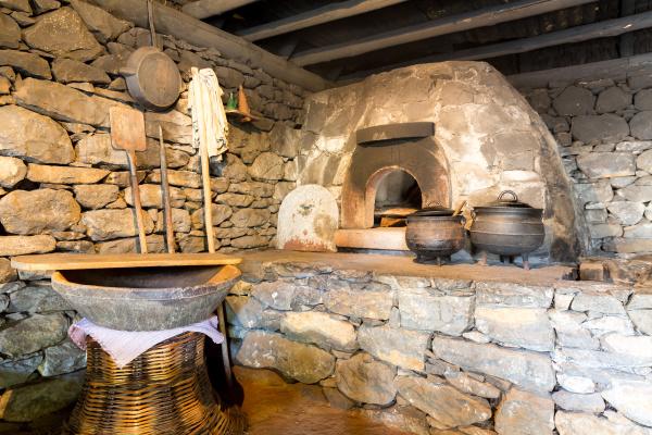 old kitchen interior