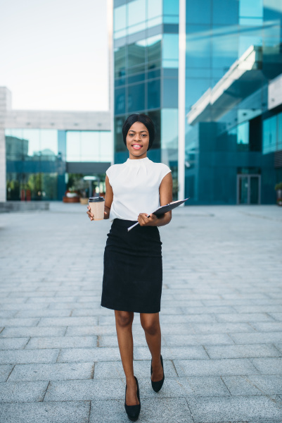 business woman with coffee cup and