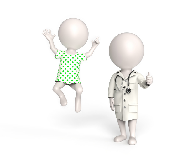 doctor and patient in good mood