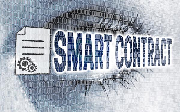 smart contract eye with matrix looks