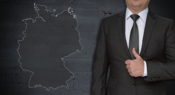 germany map concept and businessman with