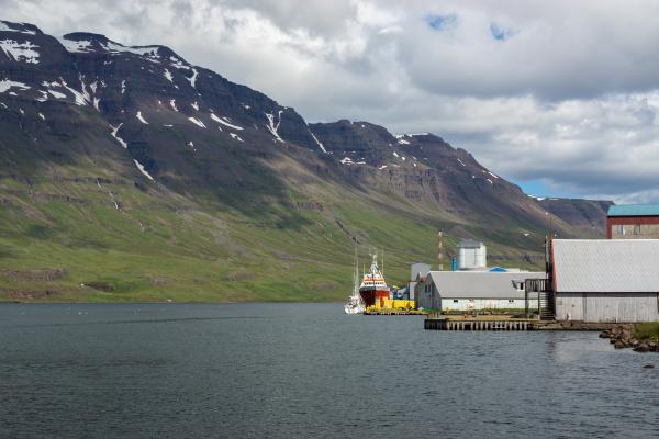 pier and factory seydisfjoerdur iceland