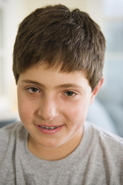 portrait of a thoughtful boy