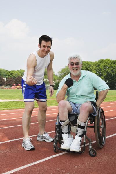 portrait of a handicapped senior man