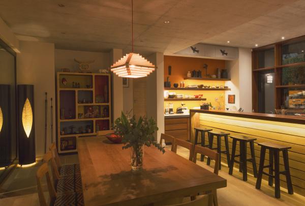 illuminated home showcase interior dining room