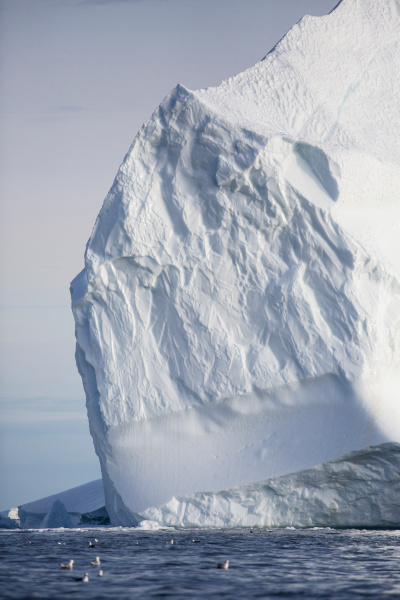 majestic iceberg formation over sunny ocean