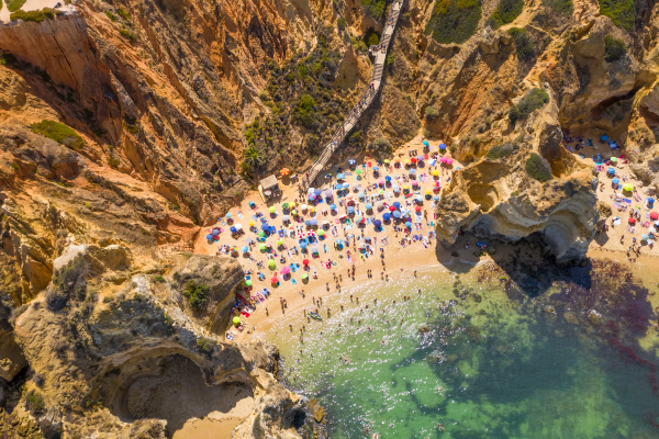 aerial view of lagos portugal