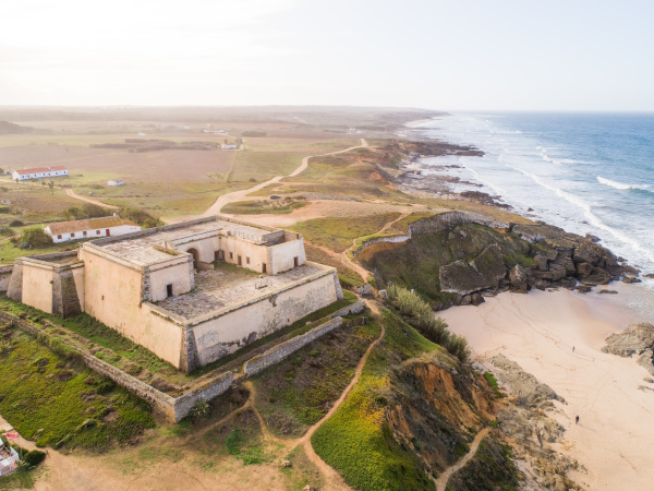 aerial view of the fort of