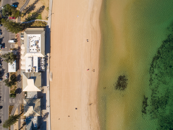 aerial view of elwood victoria australia