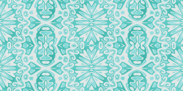 allover pattern tile in turquoise