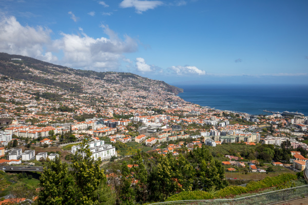 panoramic view of funchal on madeira