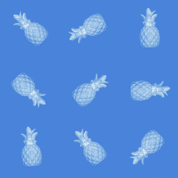 seamless abstract background of blue pineapples