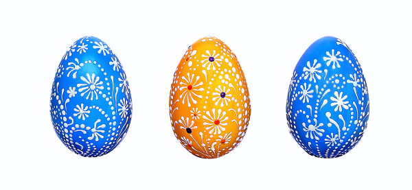easter eggs hand painted with acrylic