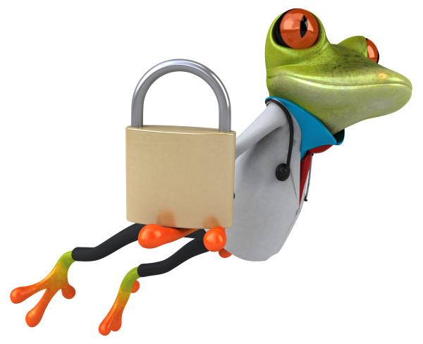 frog doctor 3d illustration