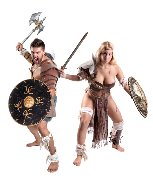 gladiator ancient warrior couple