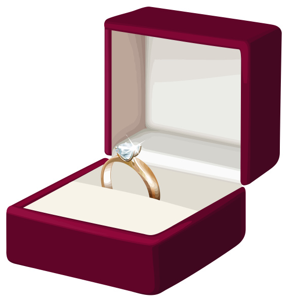 wedding ring in box engagement gold