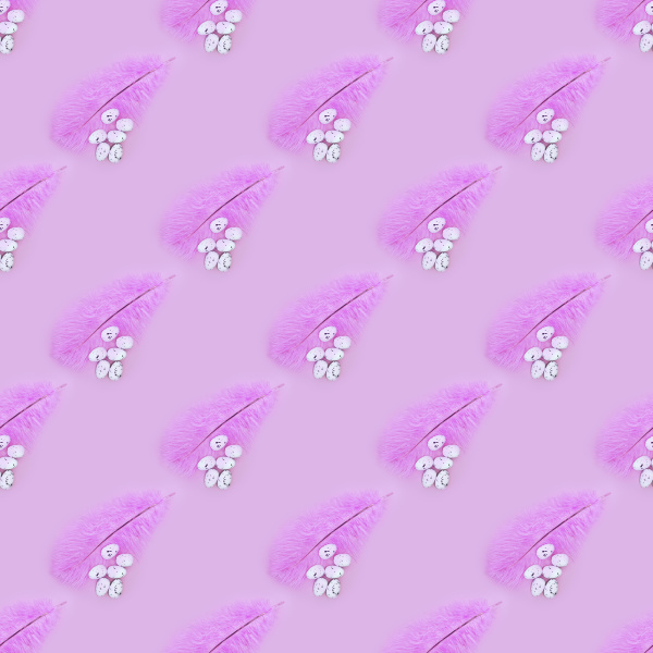 seamless texture of pink feather and