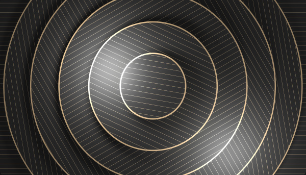 geometric minimalist background with concentric shapes