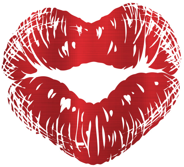 red mouth lips makeup kiss heart