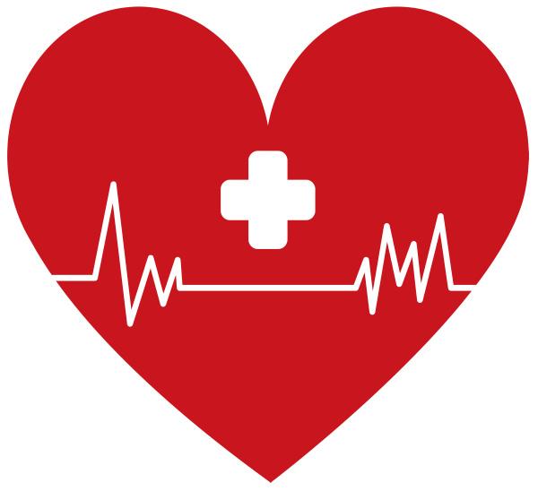 heart shape cardiogram pulse rate medical