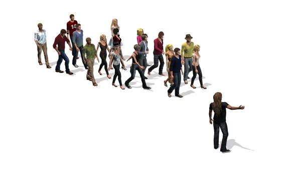 people a group of