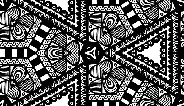 allover pattern tile black and white