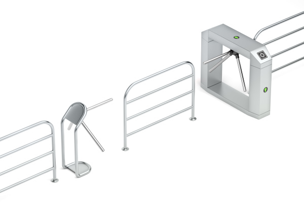 entry and exit turnstiles