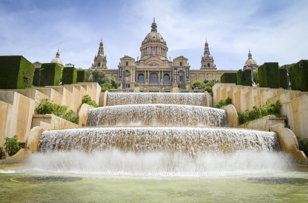 the magic fountain of montjuic with