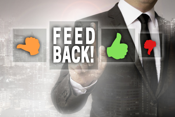 feedback with thumb is shown by