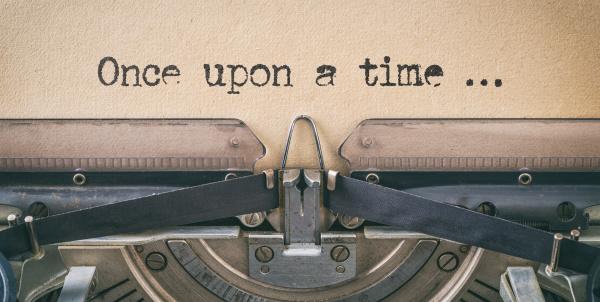 text written with a vintage typewriter