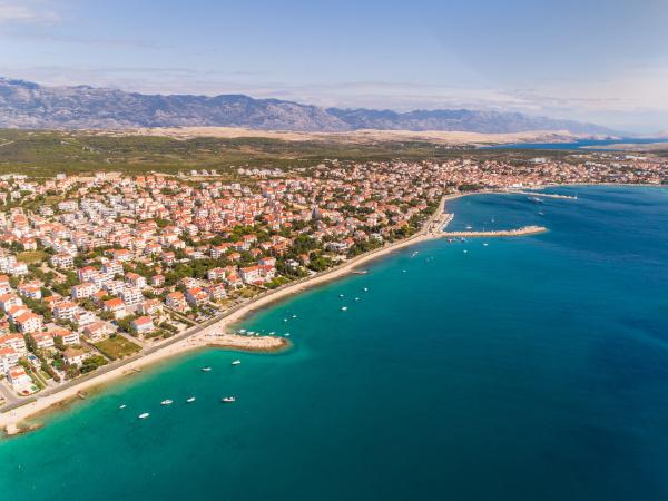 aerial view of novalja croatia