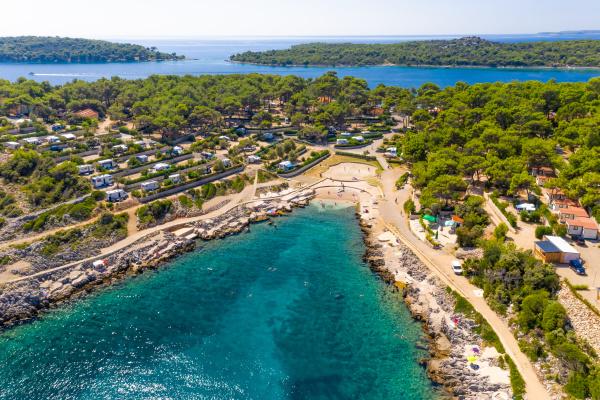aerial view of losinj croatia