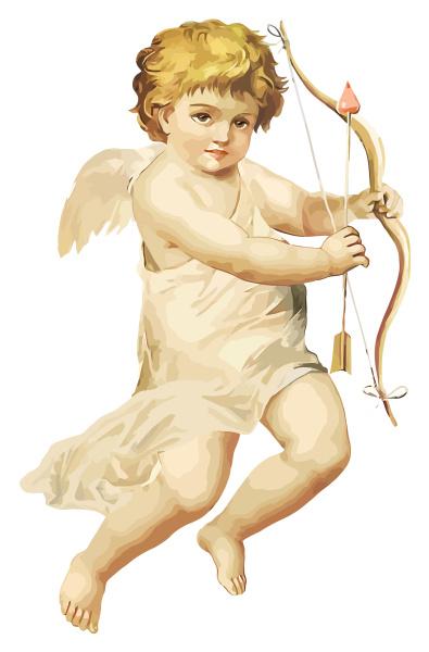 illustration of cute little angel cupid
