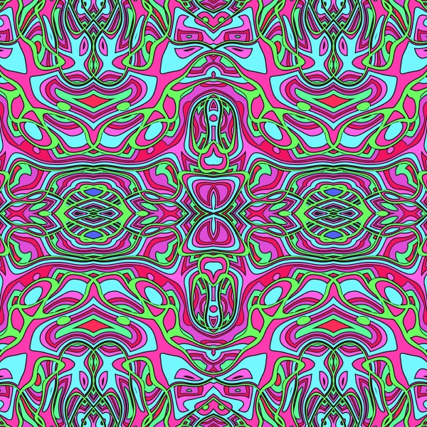 detailed allover repeating pattern tile