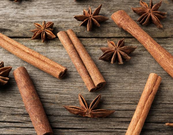 brown, cinnamon, sticks, and, dry, star - 28215623