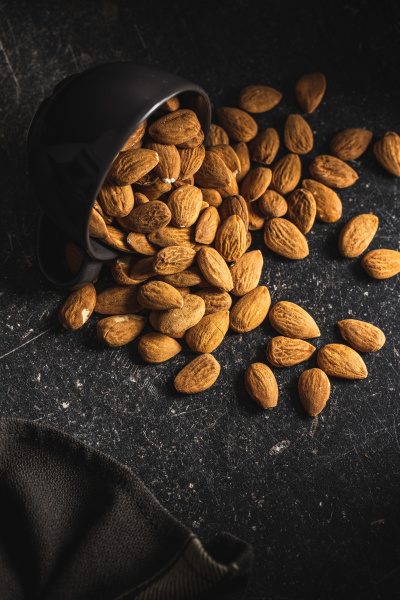 dried, almond, nuts. - 28215598