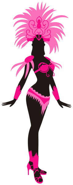 woman, dressed, for, brazilian, carnival, pink - 28215345