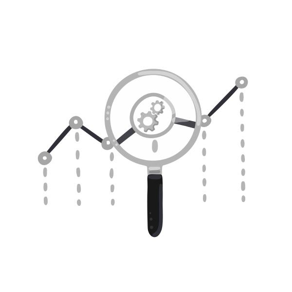 vector concept of web analytics
