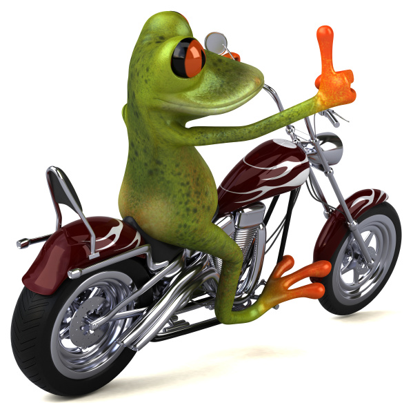 fun, frog, on, a, motorcycle, - - 28217729