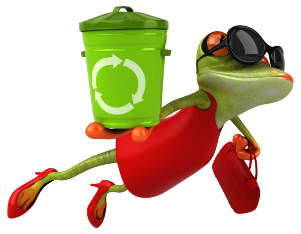 fun, frog, -, 3d, illustration - 28218060