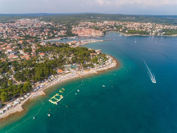 aerial view of krk croatia