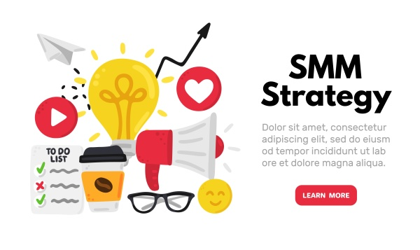 vector background with smm elements social